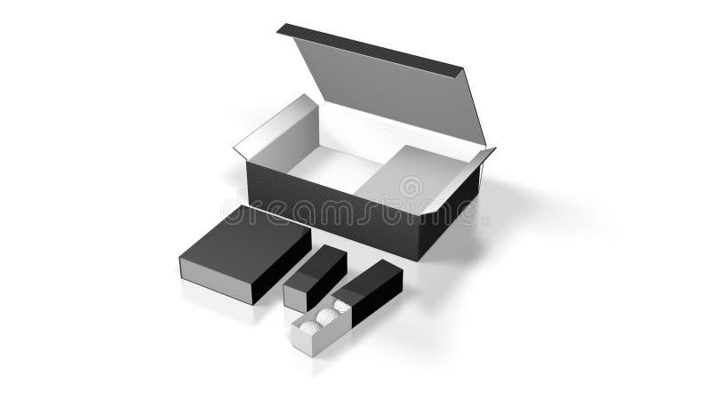 空白配件箱 向量例证