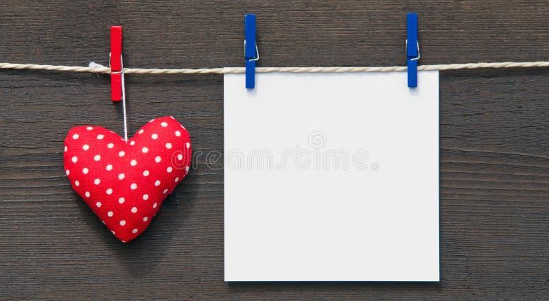 空白重点纸张红色 免版税图库摄影