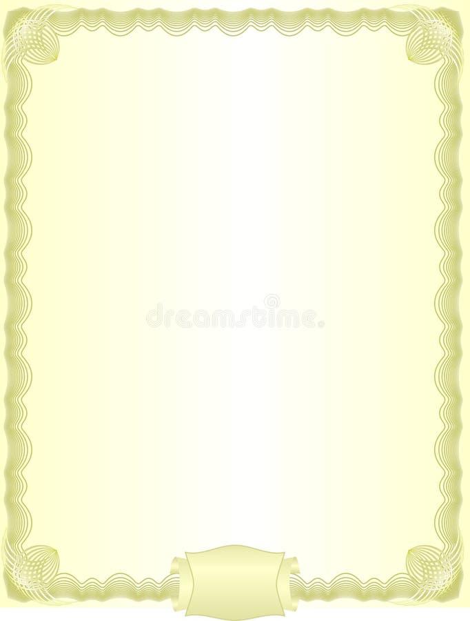 空白金黄 向量例证