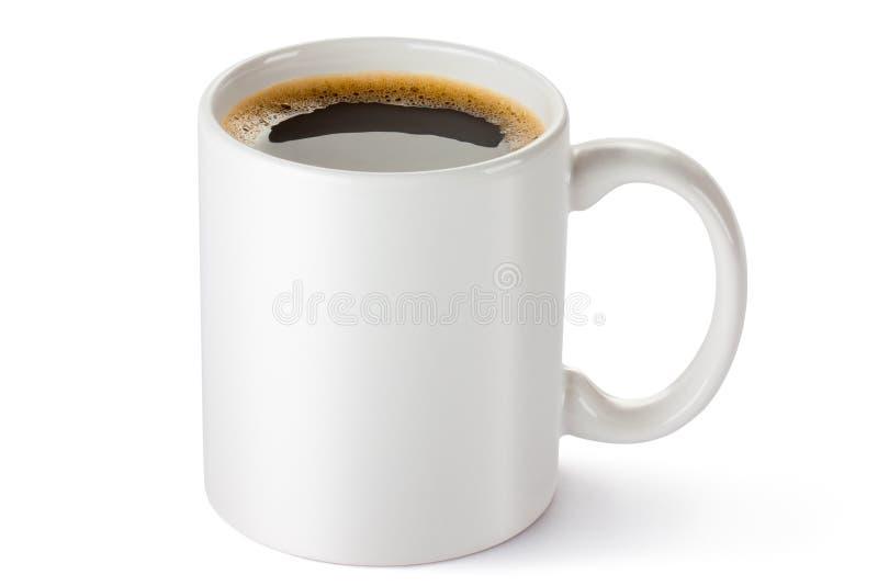 空白陶瓷咖啡杯 免版税库存照片