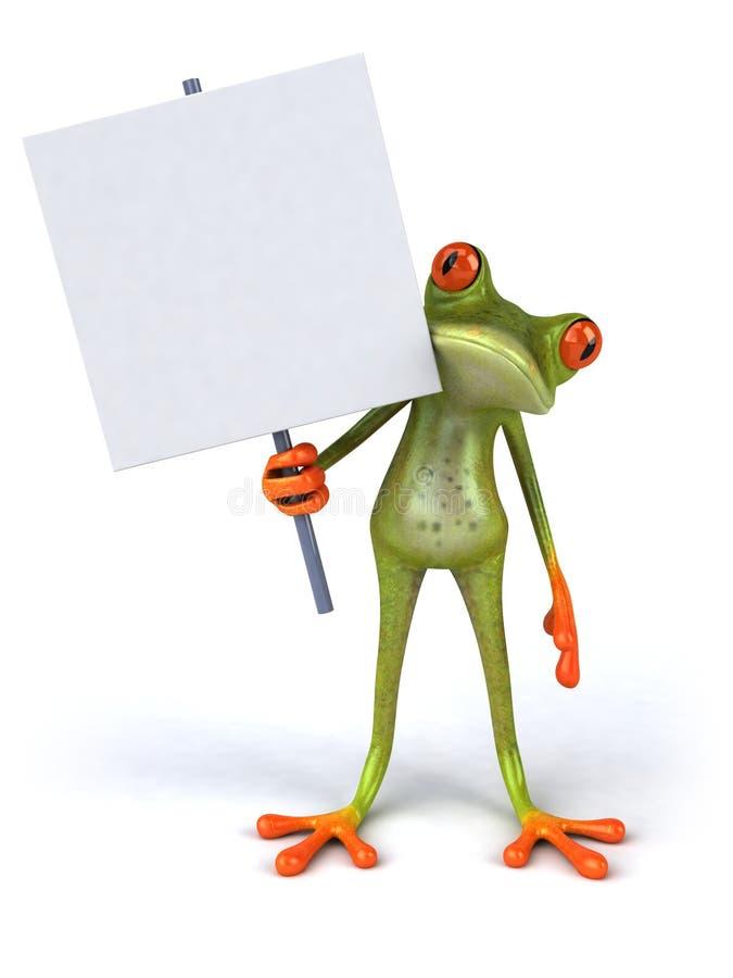 空白青蛙滑稽的符号 向量例证