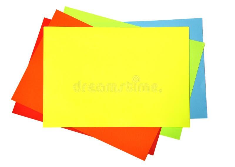 空白颜色纸张 库存照片