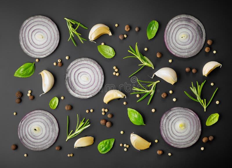 空白香葱新鲜的草本查出的香料 图库摄影