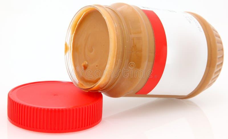 空白黄油乳脂状的标签花生 免版税图库摄影