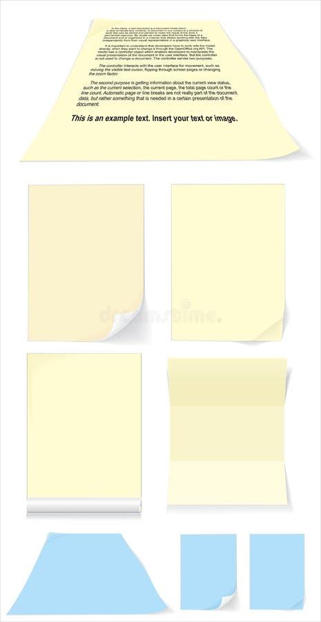 空白黄色 免版税库存图片