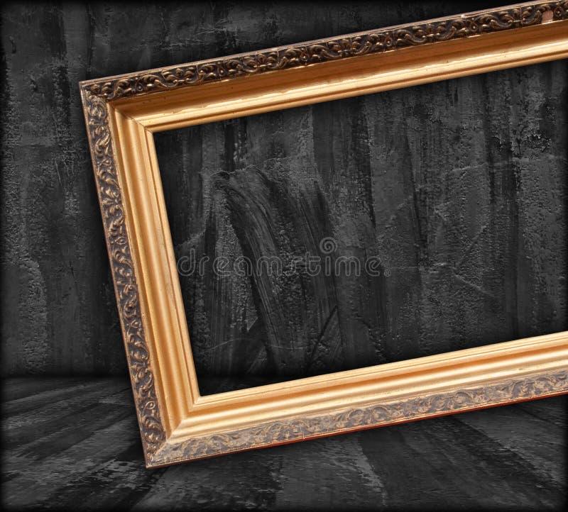 空白黑暗的框架照片空间 免版税库存照片