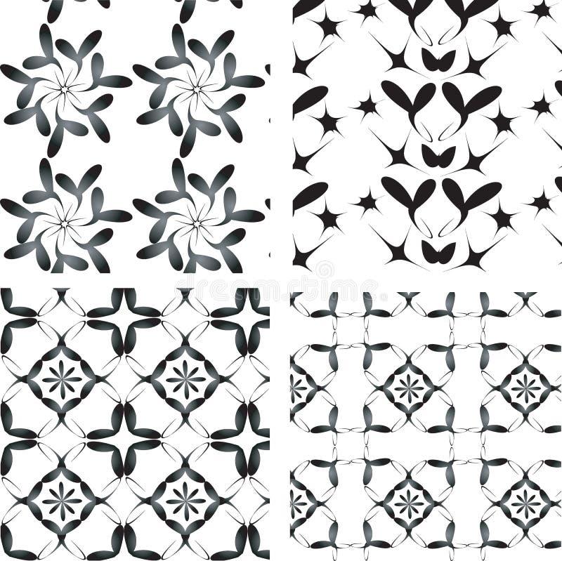 空白黑色的装饰品被设置 库存例证