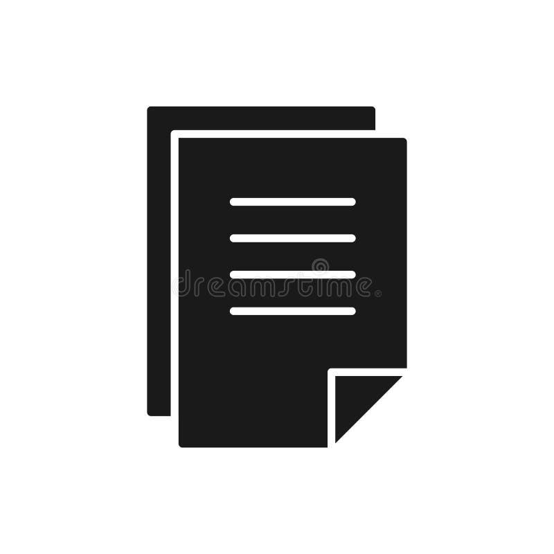空白,文件,在白色背景的纸的拷贝黑被隔绝的象  信件的拷贝象  黑色剪影 库存例证