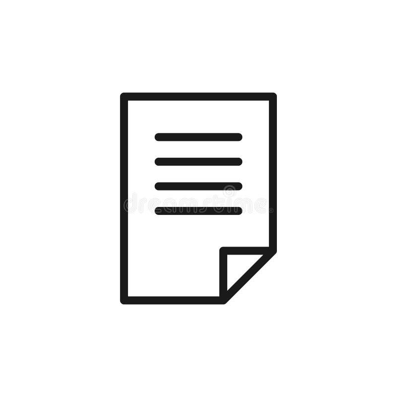 空白,文件,在白色背景的纸黑被隔绝的概述象  线信件象  皇族释放例证