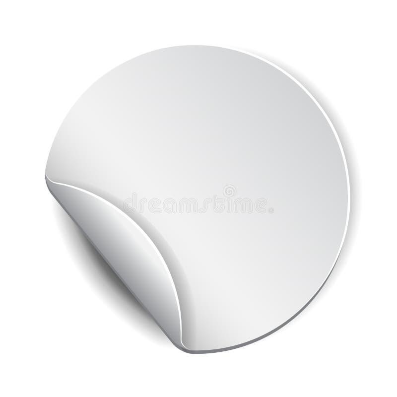 空白,白色圆的增进贴纸 皇族释放例证