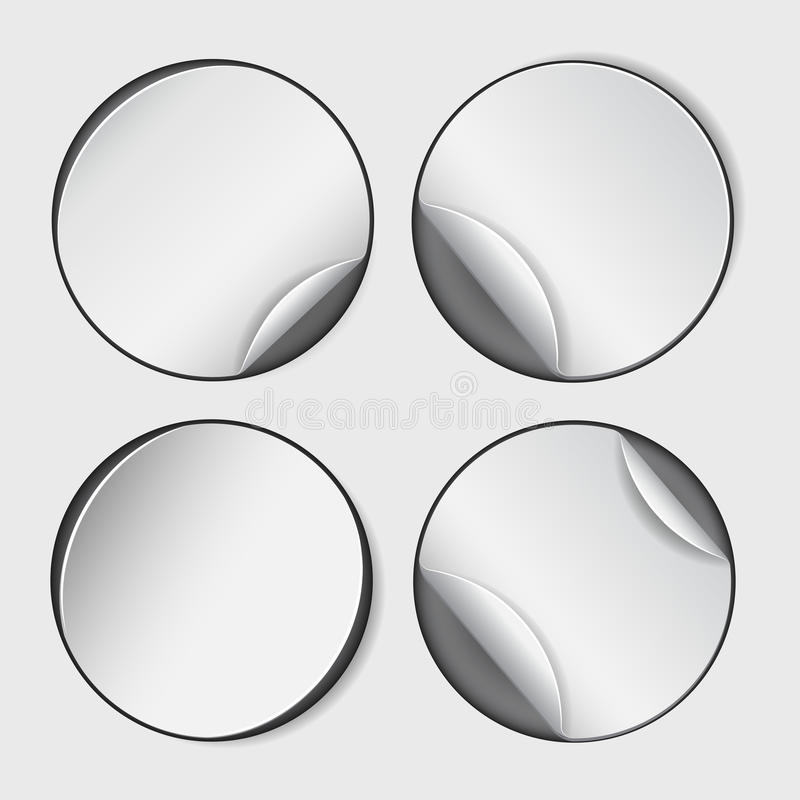 空白,白色圆的增进贴纸 库存例证
