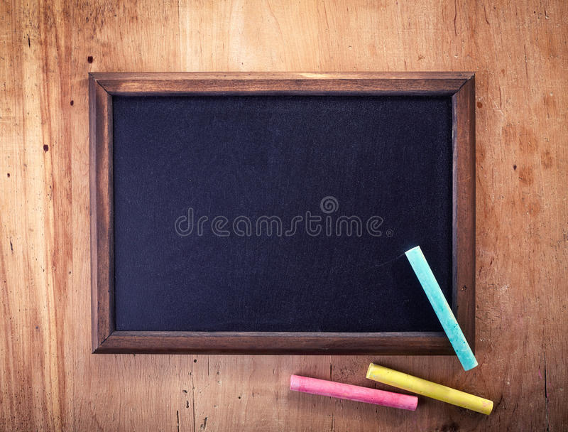空白黑板 免版税库存照片