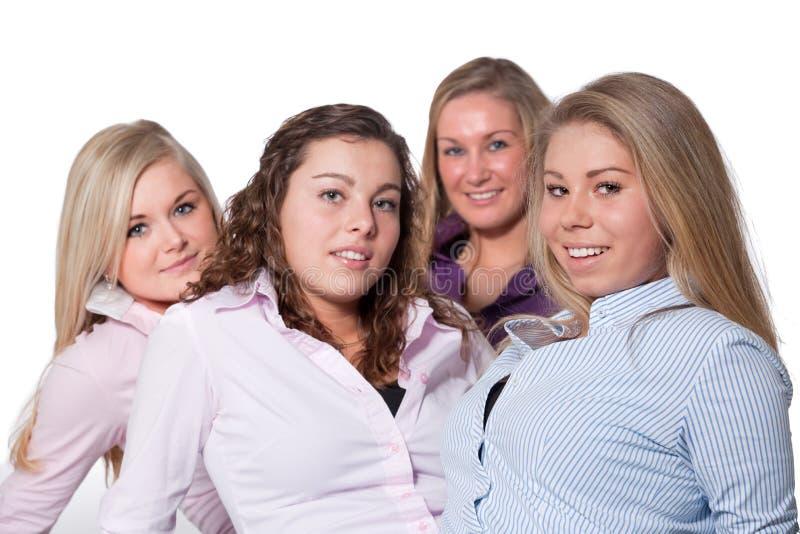空白4个的女孩 免版税库存图片