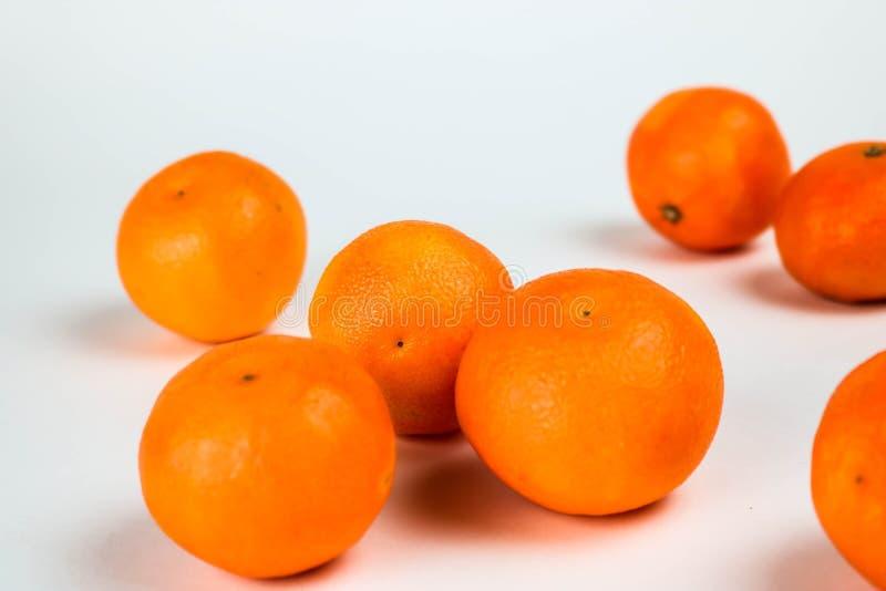 空白dof隔离宏观浅的蜜桔 库存照片