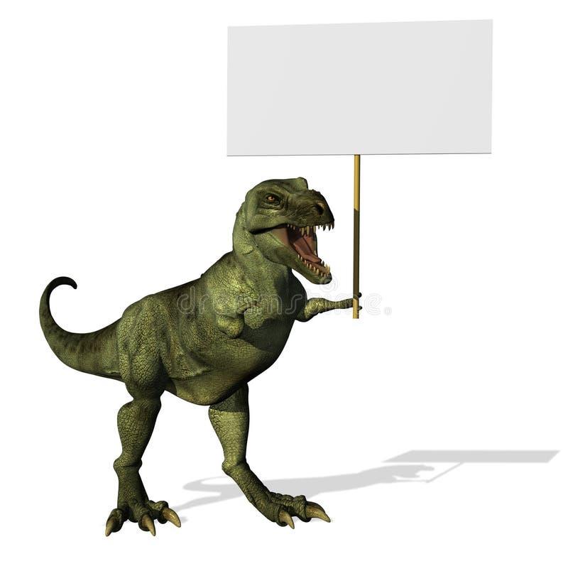 空白rex符号t 皇族释放例证