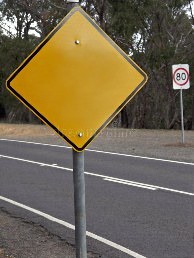 空白roadsign 库存照片