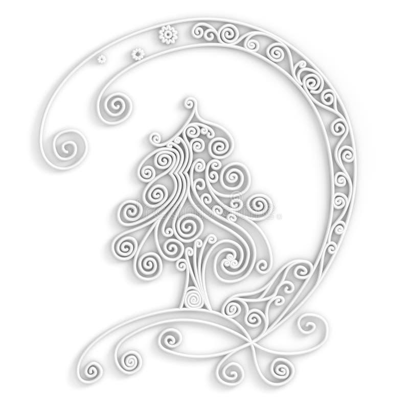 空白Xmas结构树 库存例证
