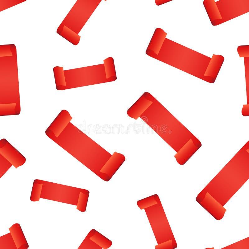 空的丝带吊标记无缝的样式背景 事务 向量例证