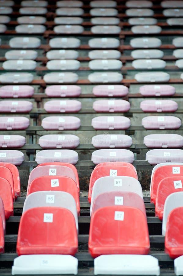 空的体育场位子 免版税库存图片