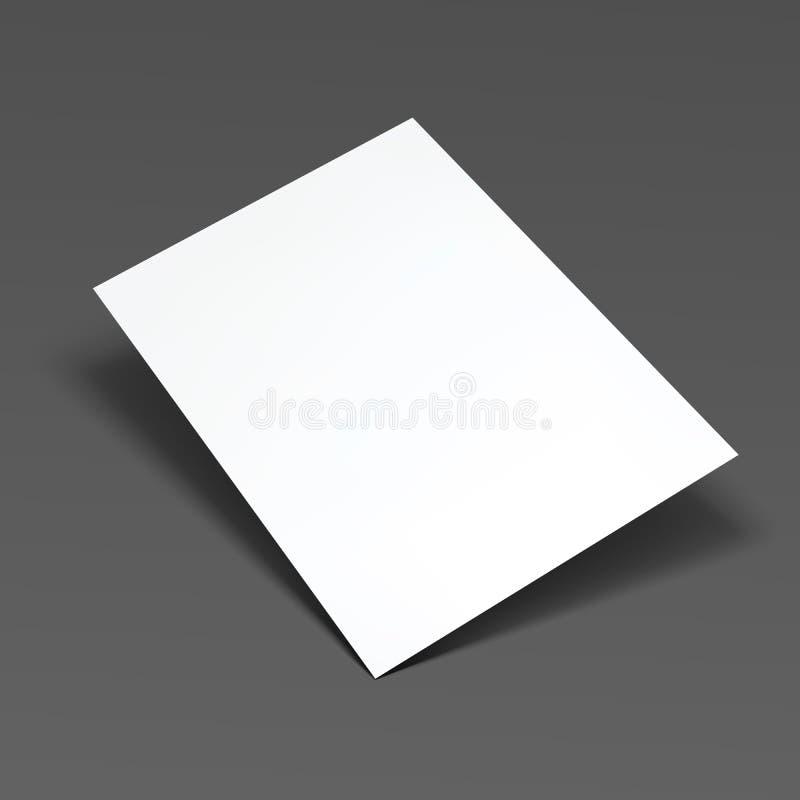 空的例证纸张页向量 库存例证
