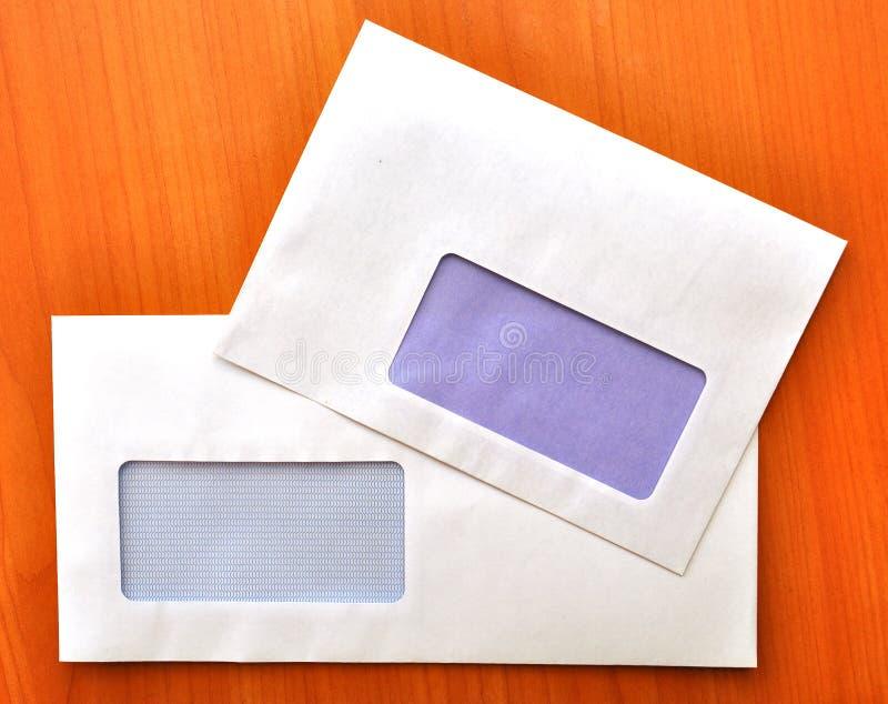 空的信包视窗 库存照片