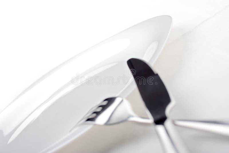 空的刀子牌照 免版税库存图片