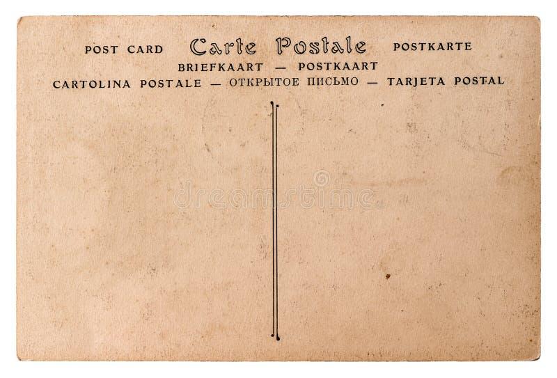 空的古色古香的法国明信片 背景资料减速火箭的样式 免版税图库摄影
