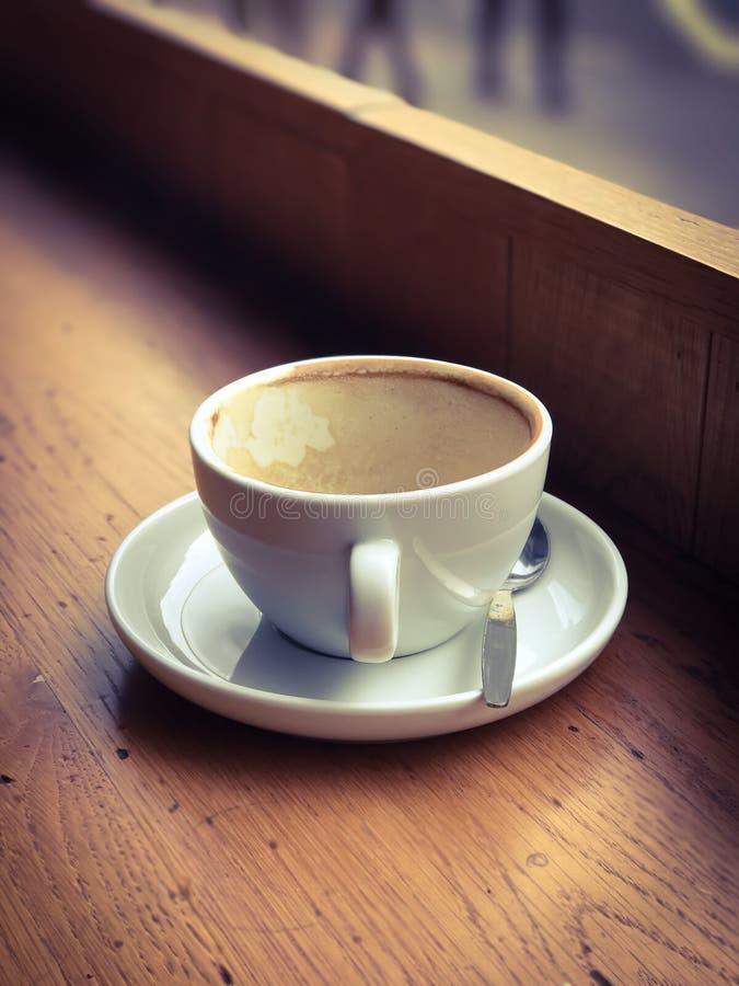 空的咖啡杯 免版税图库摄影