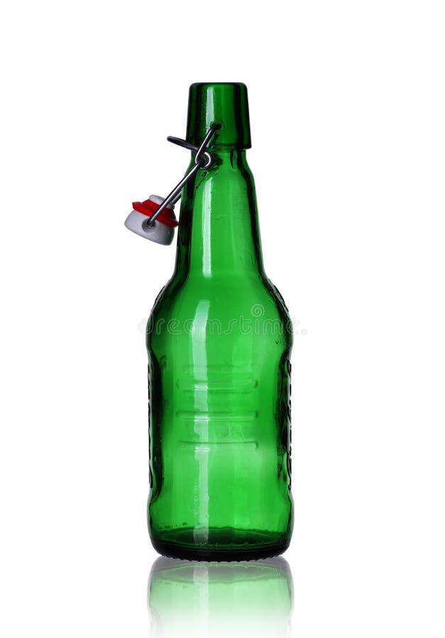 空的啤酒瓶 免版税库存照片