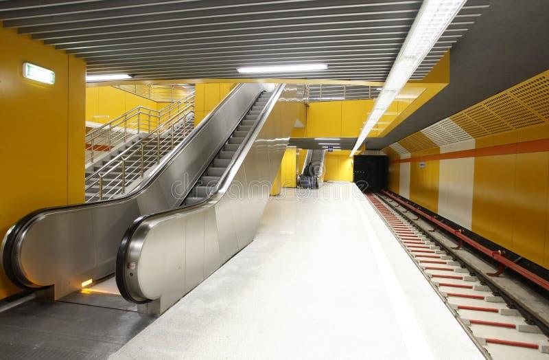 空的地铁站 库存图片