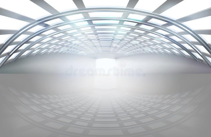 空的大厅,大空间 也corel凹道例证向量 皇族释放例证
