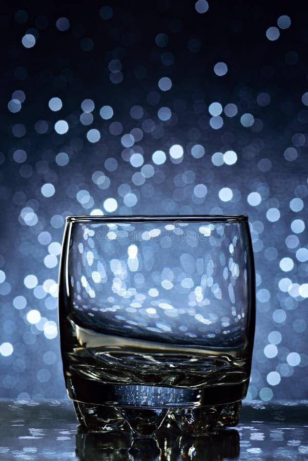 空的威士忌酒玻璃 免版税库存图片