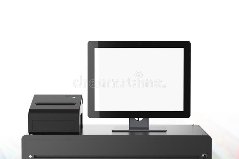 空的屏幕出纳员机器 库存例证