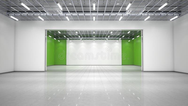 空的展览室 免版税库存照片