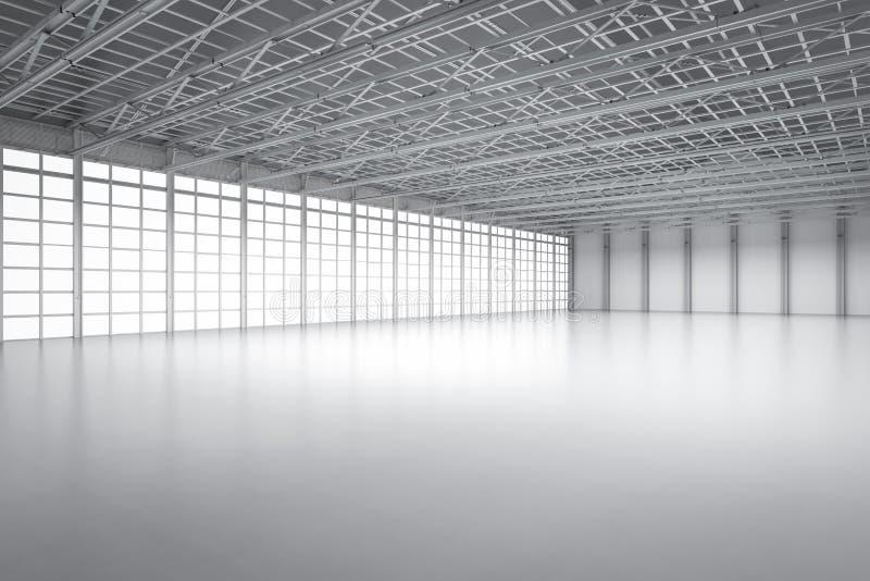 空的工厂内部 库存例证