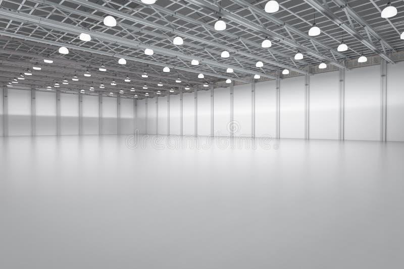 空的工厂内部 免版税库存图片
