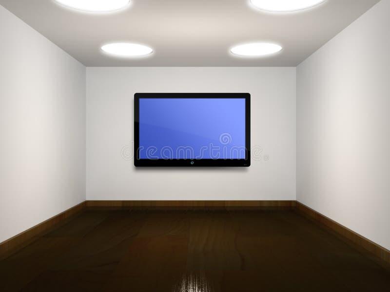 空的平面的空间屏幕电视 向量例证