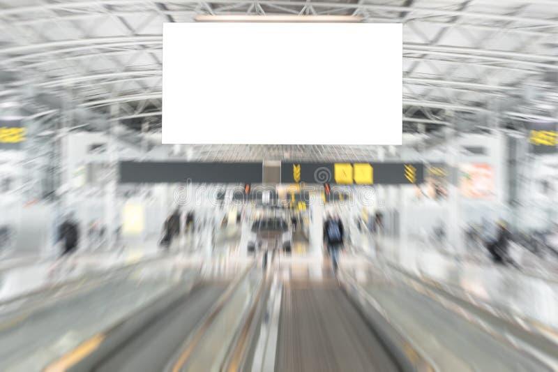 空的广告广告牌在机场 库存图片