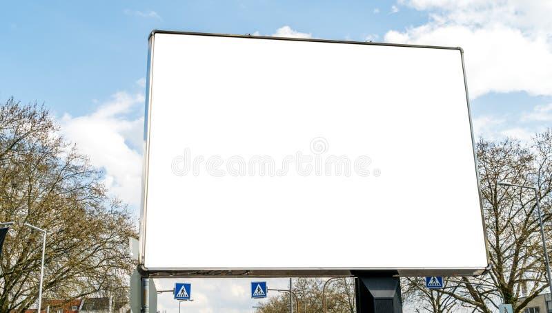 空的广告牌街道 免版税库存图片