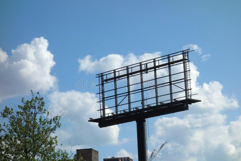 空的广告牌 图库摄影