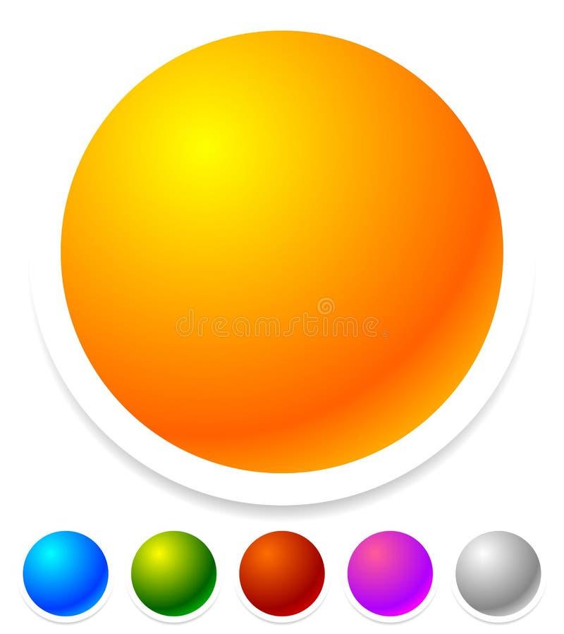 空的徽章,作为一般设计的按钮,增进元素 向量例证
