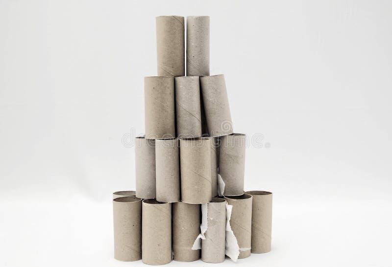 空的手纸卷 免版税库存图片
