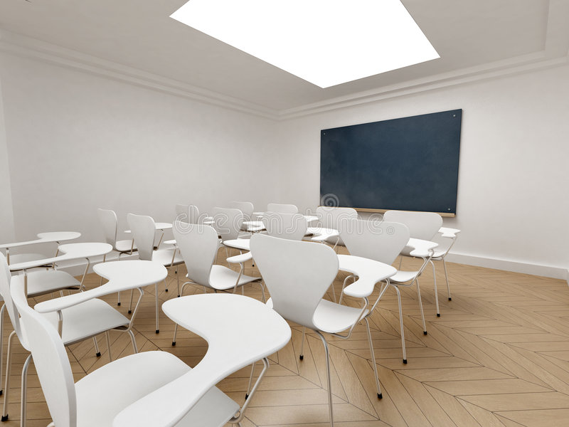 空的教室 向量例证