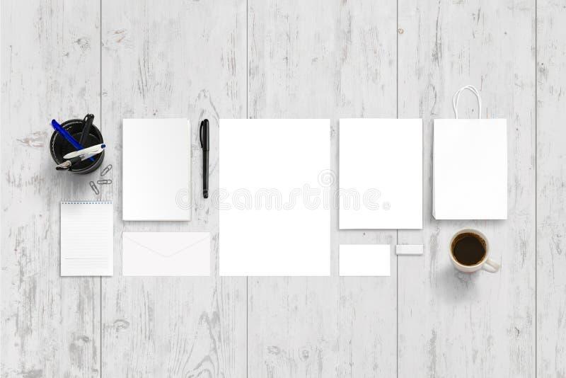 空的文具,烙记的促进的办公室辅助部件 库存图片
