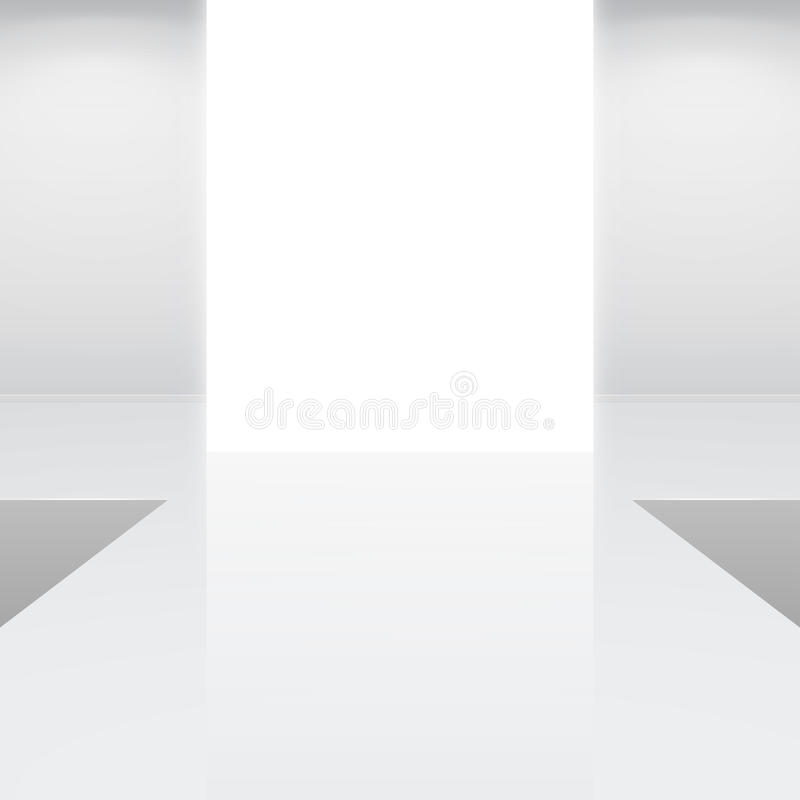 空的方式内部指挥台白色 向量例证