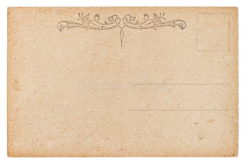 空的明信片 葡萄酒减速火箭的样式纸背景 库存照片