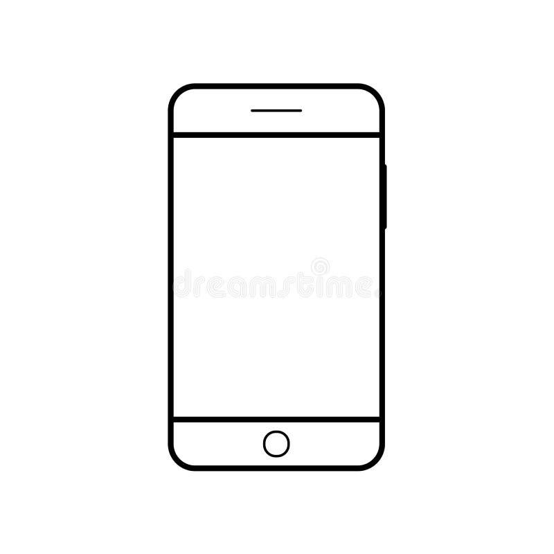 空的智能手机象 手机标志 流动小配件, PDA模板 皇族释放例证