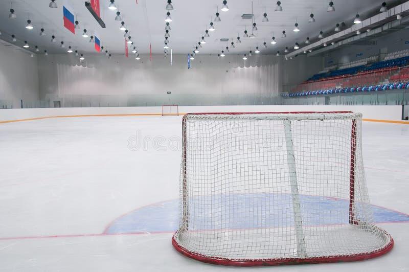 空的曲棍球冰操场 图库摄影