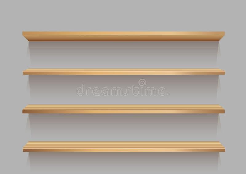 空的木商店陈列室 向量例证