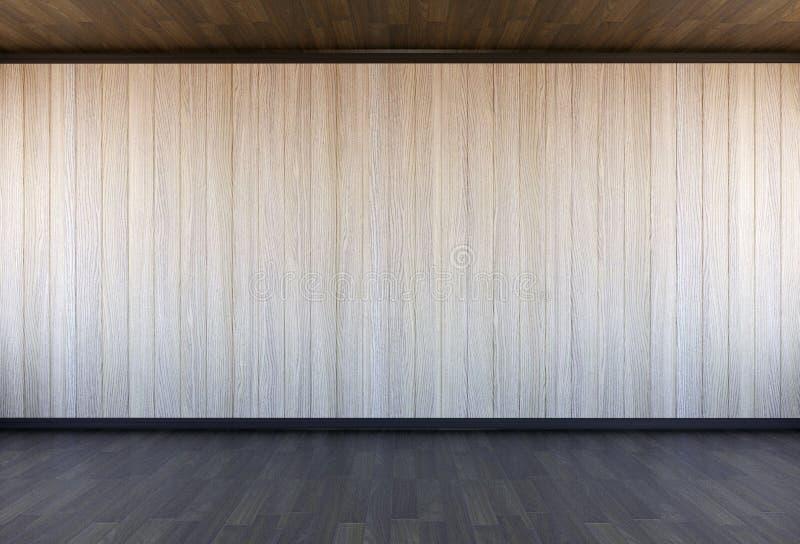 空的木室内部 库存照片